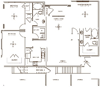 1,438 sq. ft. GARDEN floor plan