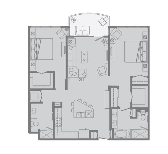 1,162 sq. ft. G floor plan