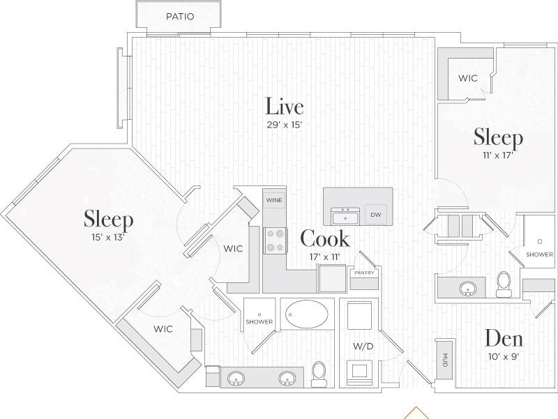 1,484 sq. ft. Giovanni II floor plan