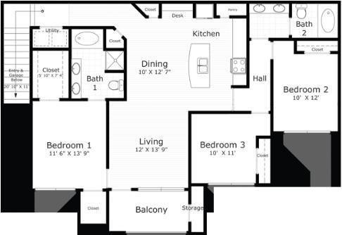 1,437 sq. ft. Nantucket floor plan