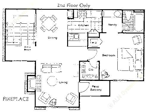 741 sq. ft. A5 floor plan