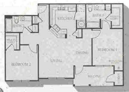 1,198 sq. ft. Wilmington floor plan