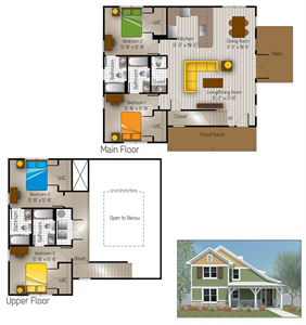 1,869 sq. ft. Junction(Cottage) floor plan