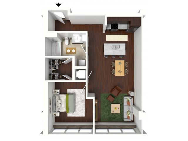 790 sq. ft. Emerald floor plan