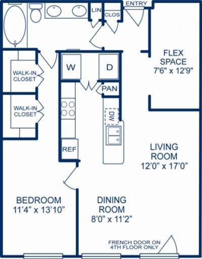 945 sq. ft. MEMPHIS floor plan