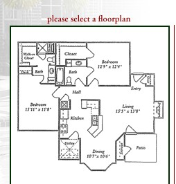 1,110 sq. ft. D floor plan