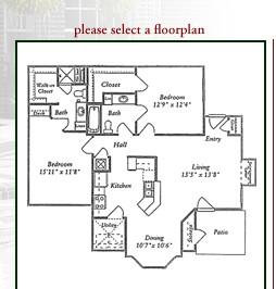 1,110 sq. ft. D floor plan
