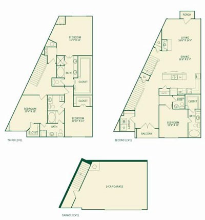 2,736 sq. ft. D1 floor plan