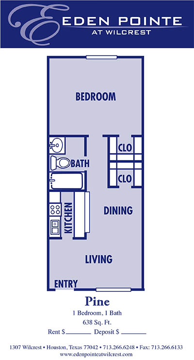 638 sq. ft. A1-Pine floor plan