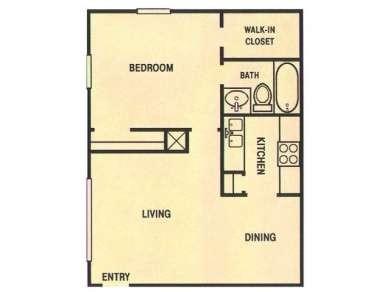 660 sq. ft. floor plan