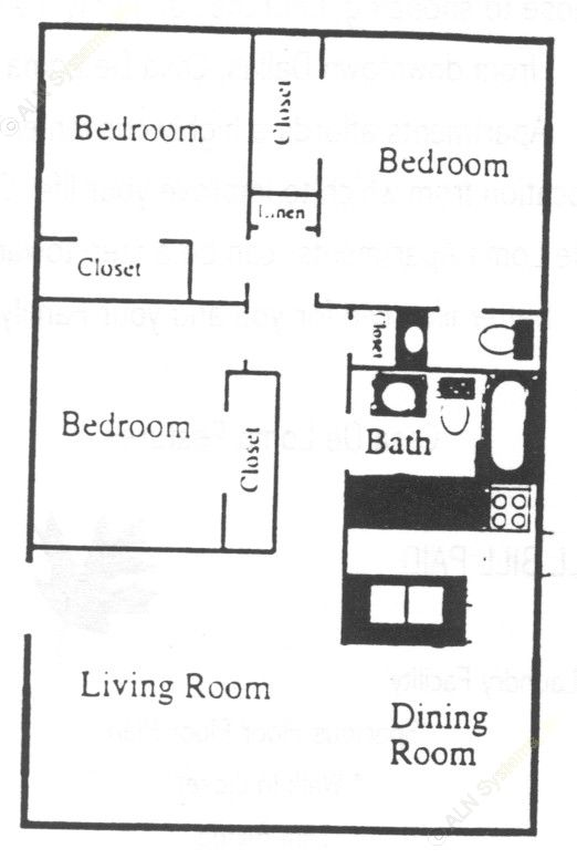 1,040 sq. ft. floor plan