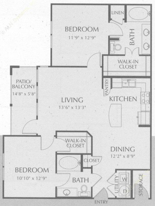1,056 sq. ft. Navarro floor plan