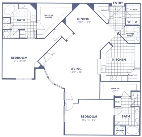 2,114 sq. ft. B5 floor plan