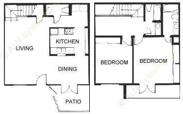 1,248 sq. ft. B3 floor plan