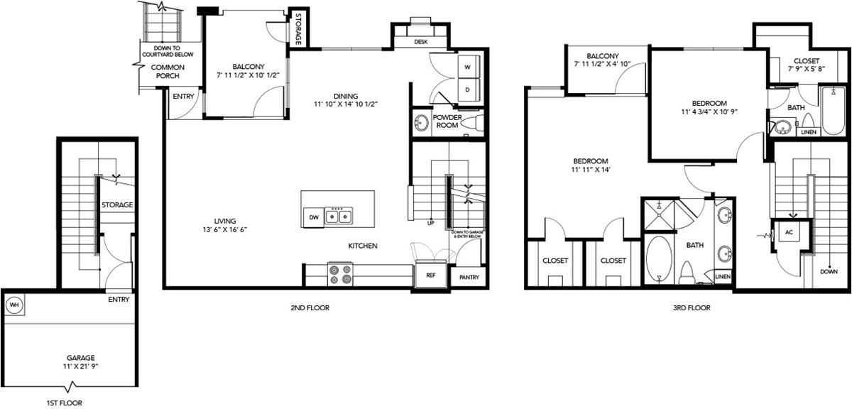 1,341 sq. ft. B4 floor plan