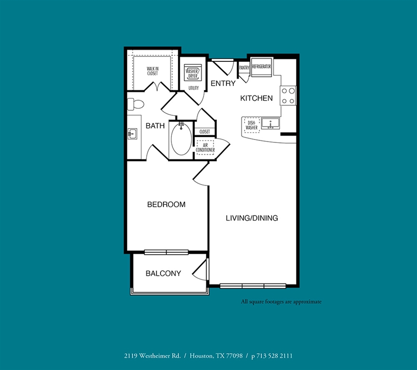 720 sq. ft. to 772 sq. ft. A4 floor plan