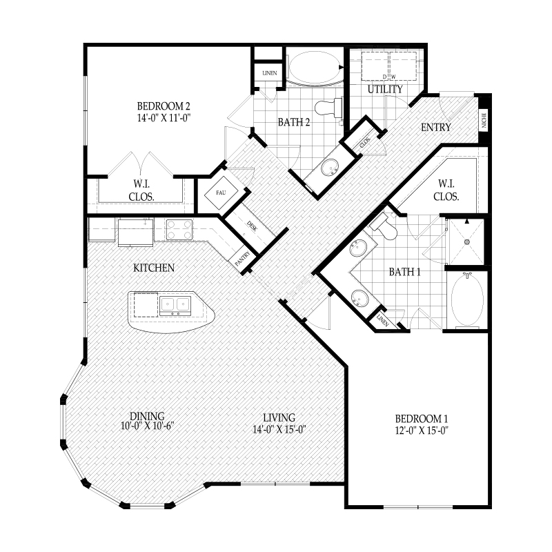 1,361 sq. ft. C4B Warhol Alt 3 floor plan
