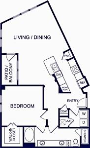 1,074 sq. ft. Ibiza floor plan
