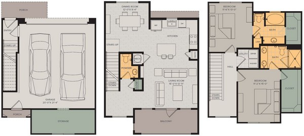 1,455 sq. ft. Grand I floor plan