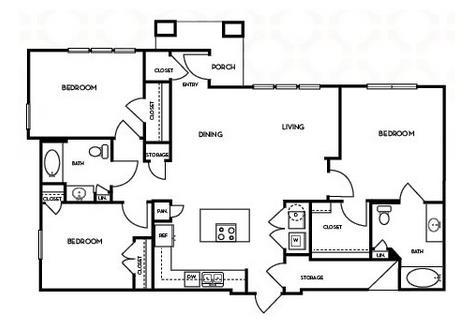 1,394 sq. ft. C1.3 floor plan