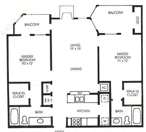 1,139 sq. ft. Willow - New! floor plan