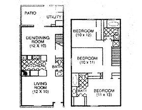 1,310 sq. ft. F floor plan