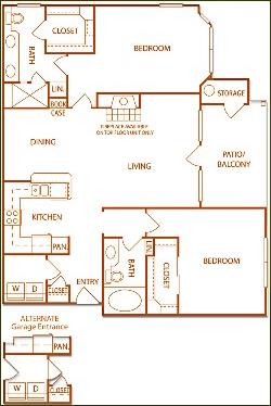 1,171 sq. ft. B4-Ridgeline floor plan