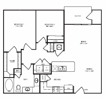 946 sq. ft. Perthshire floor plan