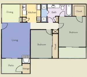 900 sq. ft. Hampton floor plan