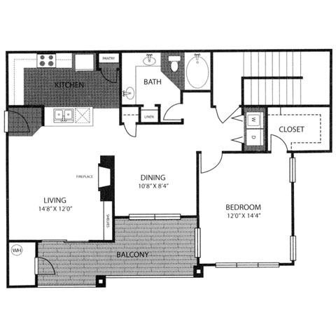 987 sq. ft. A3G floor plan