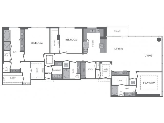 2,569 sq. ft. S floor plan