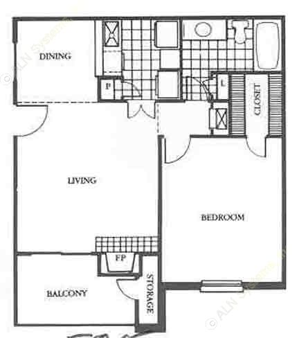678 sq. ft. Bristol floor plan