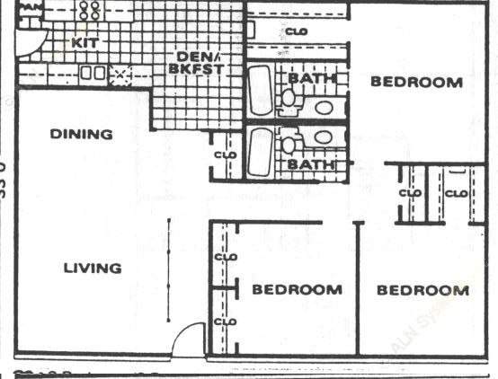 1,432 sq. ft. C2 floor plan