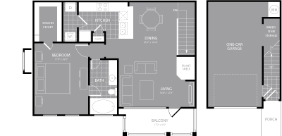 903 sq. ft. A7 floor plan