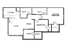 898 sq. ft. A floor plan