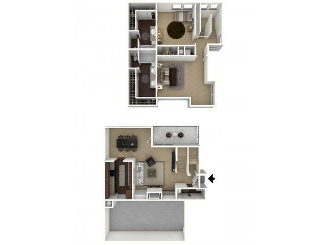 1,228 sq. ft. Executive floor plan