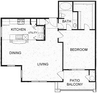 852 sq. ft. A4 floor plan