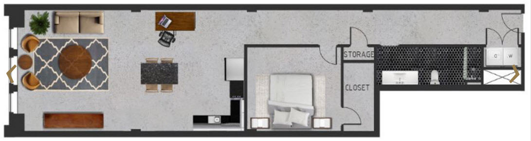1,294 sq. ft. E floor plan