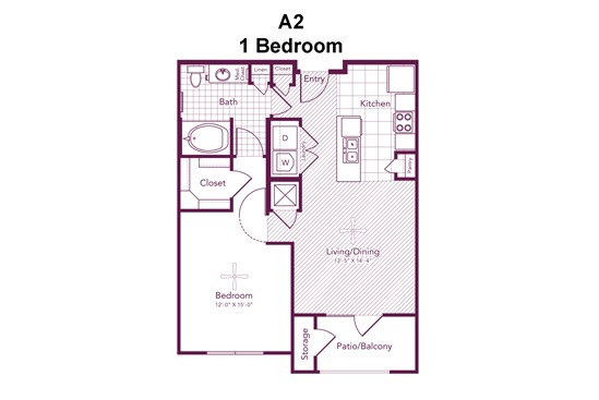 733 sq. ft. Fairview floor plan