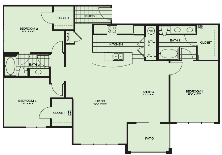 1,560 sq. ft. Augusta floor plan