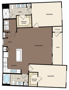1,206 sq. ft. C1b floor plan
