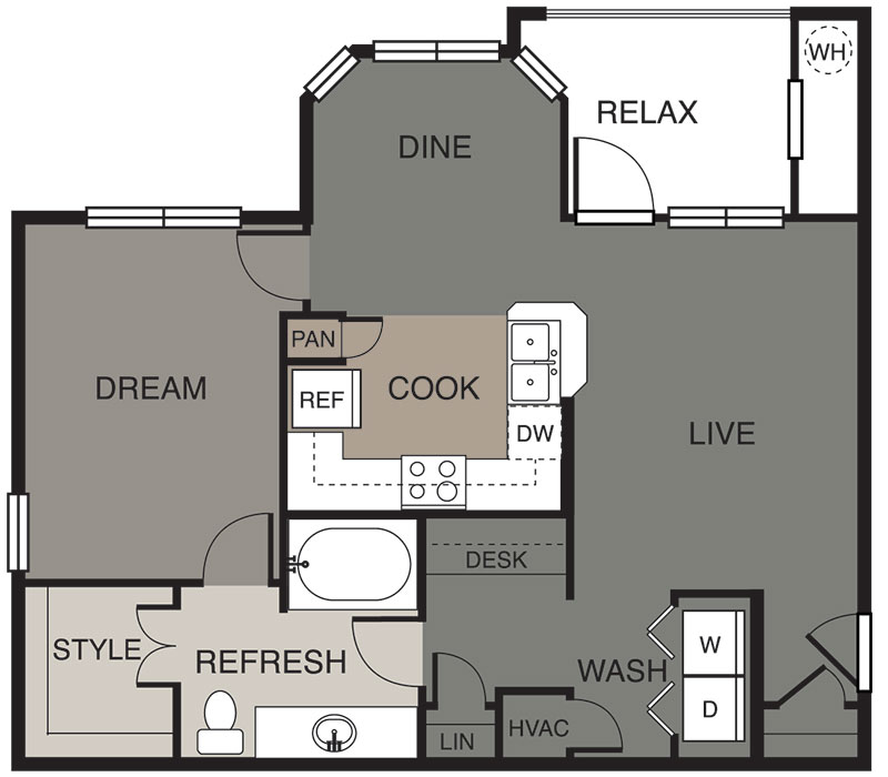 807 sq. ft. Travis floor plan
