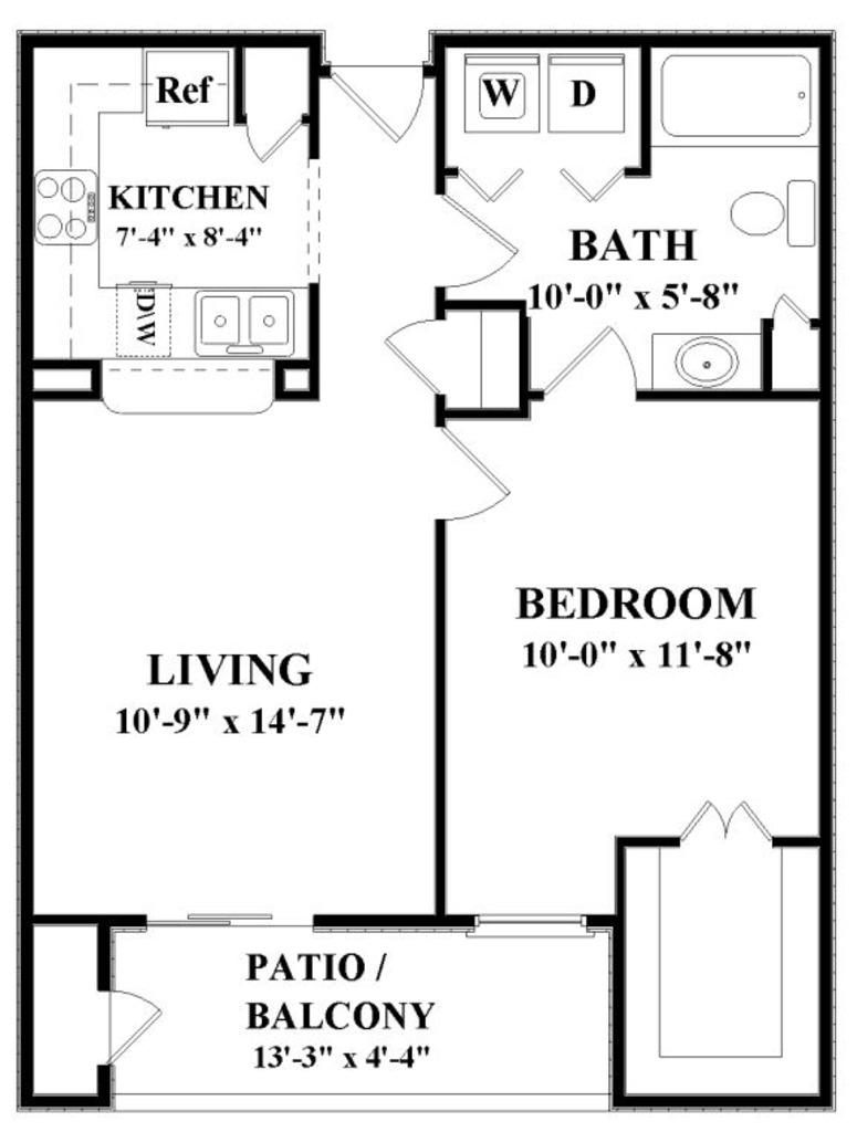 660 sq. ft. A floor plan