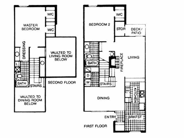 1,318 sq. ft. B3 floor plan