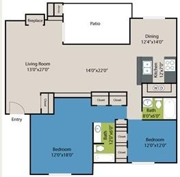 1,445 sq. ft. Windsor floor plan