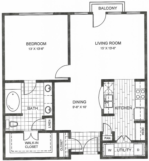 860 sq. ft. Riogrand floor plan