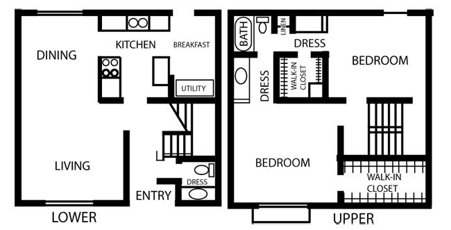 1,134 sq. ft. B2-PHASE 1 floor plan