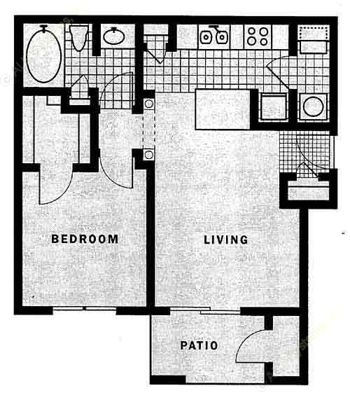 638 sq. ft. Palma floor plan
