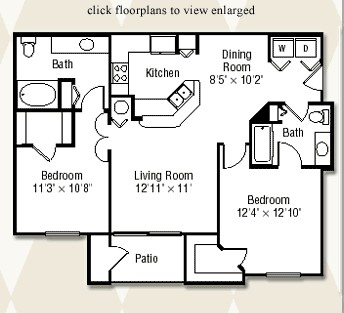 1,103 sq. ft. Maple/60% floor plan