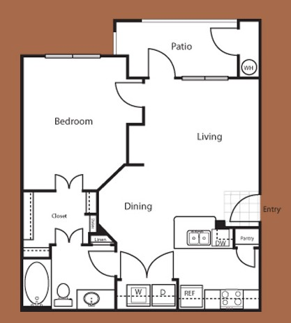 731 sq. ft. Athens floor plan